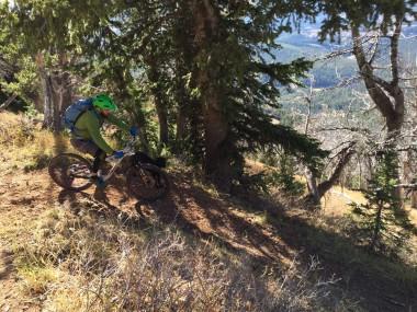 Mountain Biking Wyoming Peak