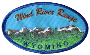 Wind River Range Patch - Blue