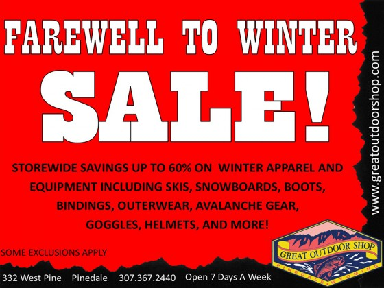 Farewell to Winter Sale!