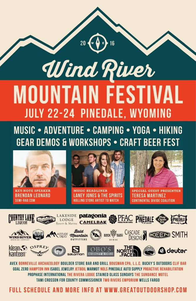 Wind River Mountain Festival Poster
