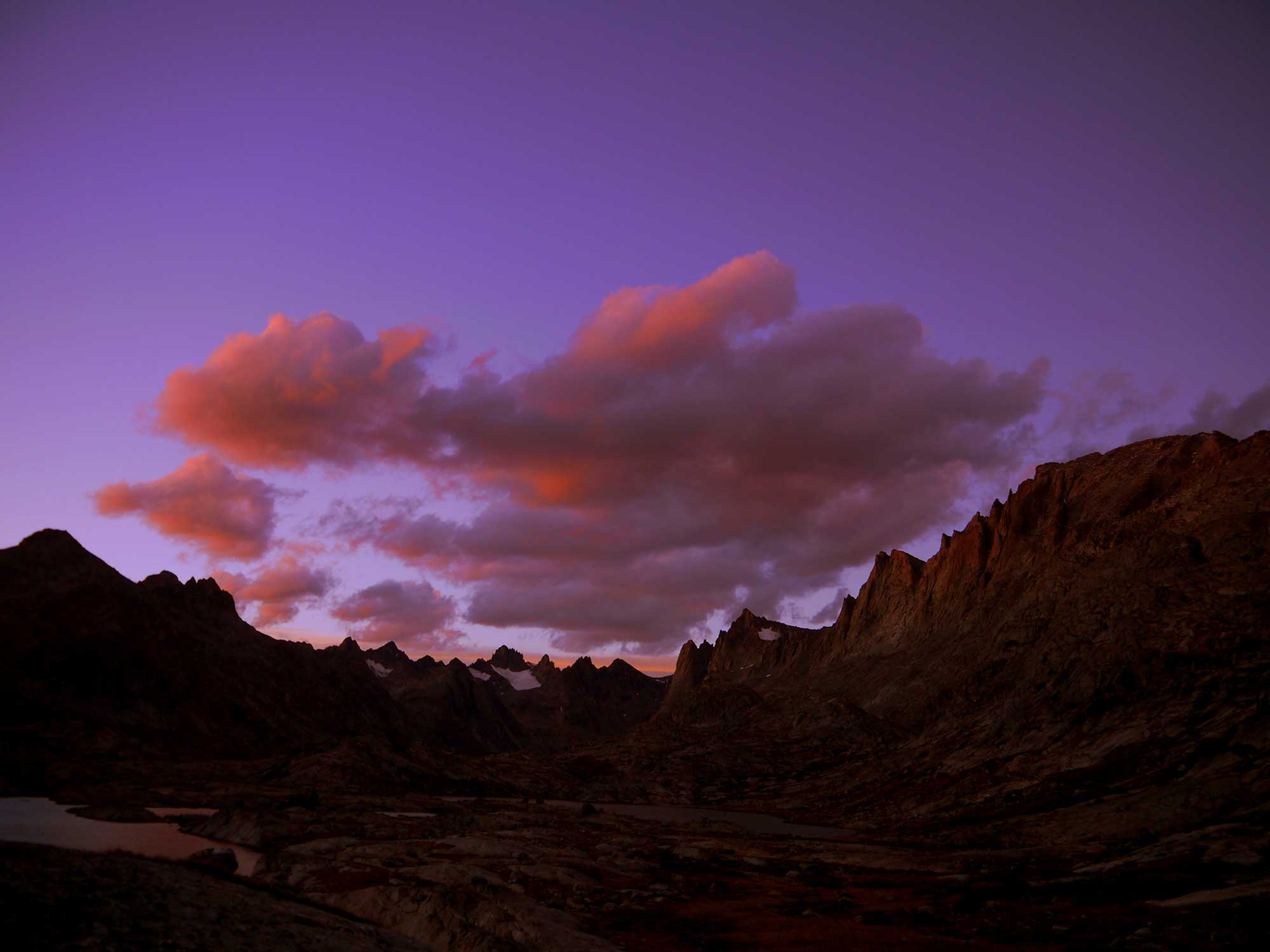 Titcomb Basin Sunset