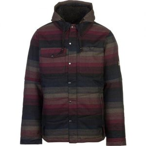 Authentic Woodland Insulated Jacket-Black Yarn Dye Stripe
