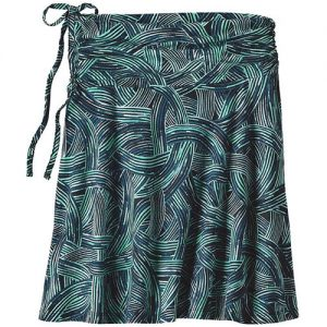 PATAGONIA Women's Lithia Convertible Skirt in River Rush Ink Black