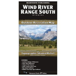 Beartooth Publishing South Wind River Range Map