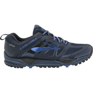BROOKS Men's Cascadia 11 GTX Dress Blues Side