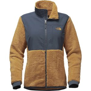 the-north-face-womens-novelty-denali-jacket-biscuit-tan-ink-blue-front