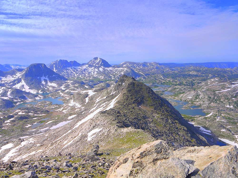 Indian Basin and Titcomb Basin from Fremont Peak