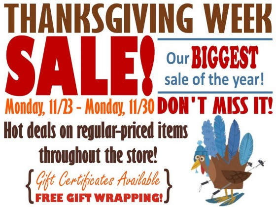 Thanksgiving Week Sale