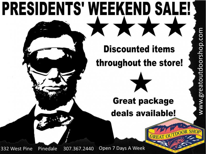 Presidents' Weekend Sale Ends Monday, February 15!