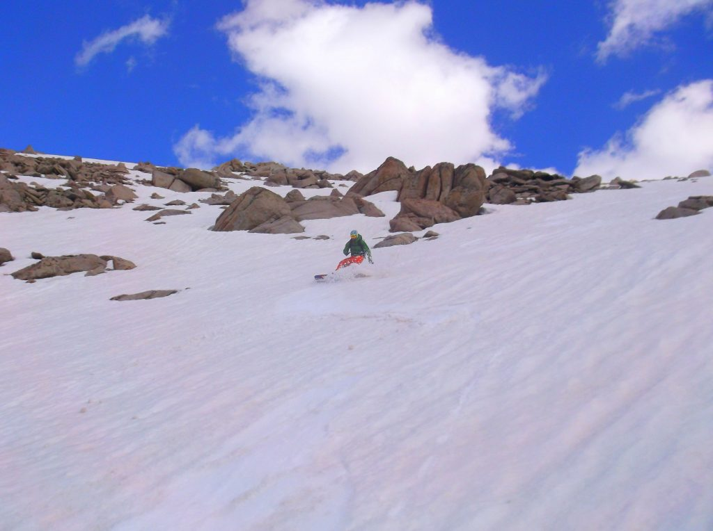 Descending Temple Peak