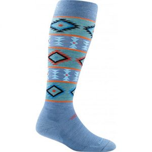 DARN TOUGH Women's Taos Light Cushion Ski Socks in Vapor Blue