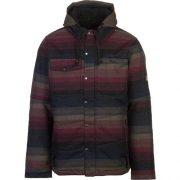 686 Men's Woodland Insulated Jacket Black Yarn Die Stripe Front