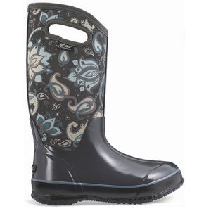BOGS Women's Classic Paisley Floral Insulated Boots in Dark Gray