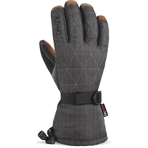 DAKINE Women's Leather Camino Gloves in Charcoal