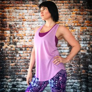 THE NORTH FACE Women's Versitas Tank in Violet Tulle, THE NORTH FACE Women's Bounce-B-Gone Bra in Wood Violet, THE NORTH FACE Women's Pulse Tight in Sweet Violet Boho Print