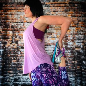 THE NORTH FACE Women's Versitas Tank in Violet Tulle, THE NORTH FACE Women's Bounce-B-Gone Bra in Wood Violet, THE NORTH FACE Women's Pulse Tight in Sweet Violet Boho Print, BROOKS Women's Adrenaline GTS in Silver Purple Cactus Flower