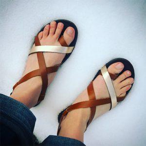 OLUKAI Women's Upena Sandals in Mustard Bubbly