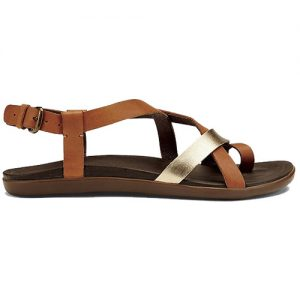 OLUKAI Women's Upena Sandals in Mustard Bubbly