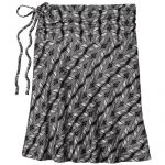 PATAGONIA Women's Lithia Convertible Skirt in Banana Breeze Black
