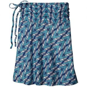 PATAGONIA Women's Lithia Convertible Skirt in Banana Breeze Channel Blue