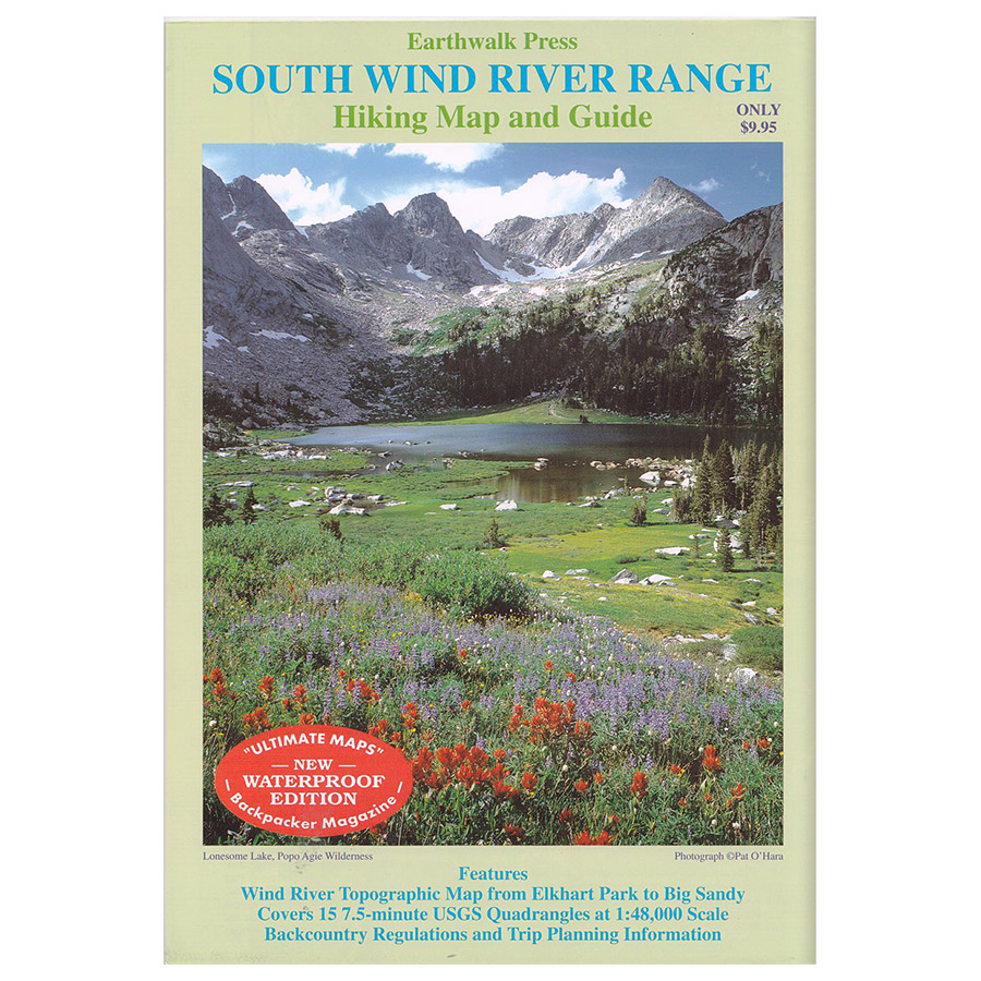 Earthwalk Press South Wind River Range Map