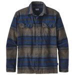 Patagonia Men's Long-Sleeved Fjord Flannel Shirt, Blanket Stripe Navy