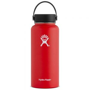 HYDRO FLASK 32-ounce Wide Mouth Inuslated Water Bottle-Lava