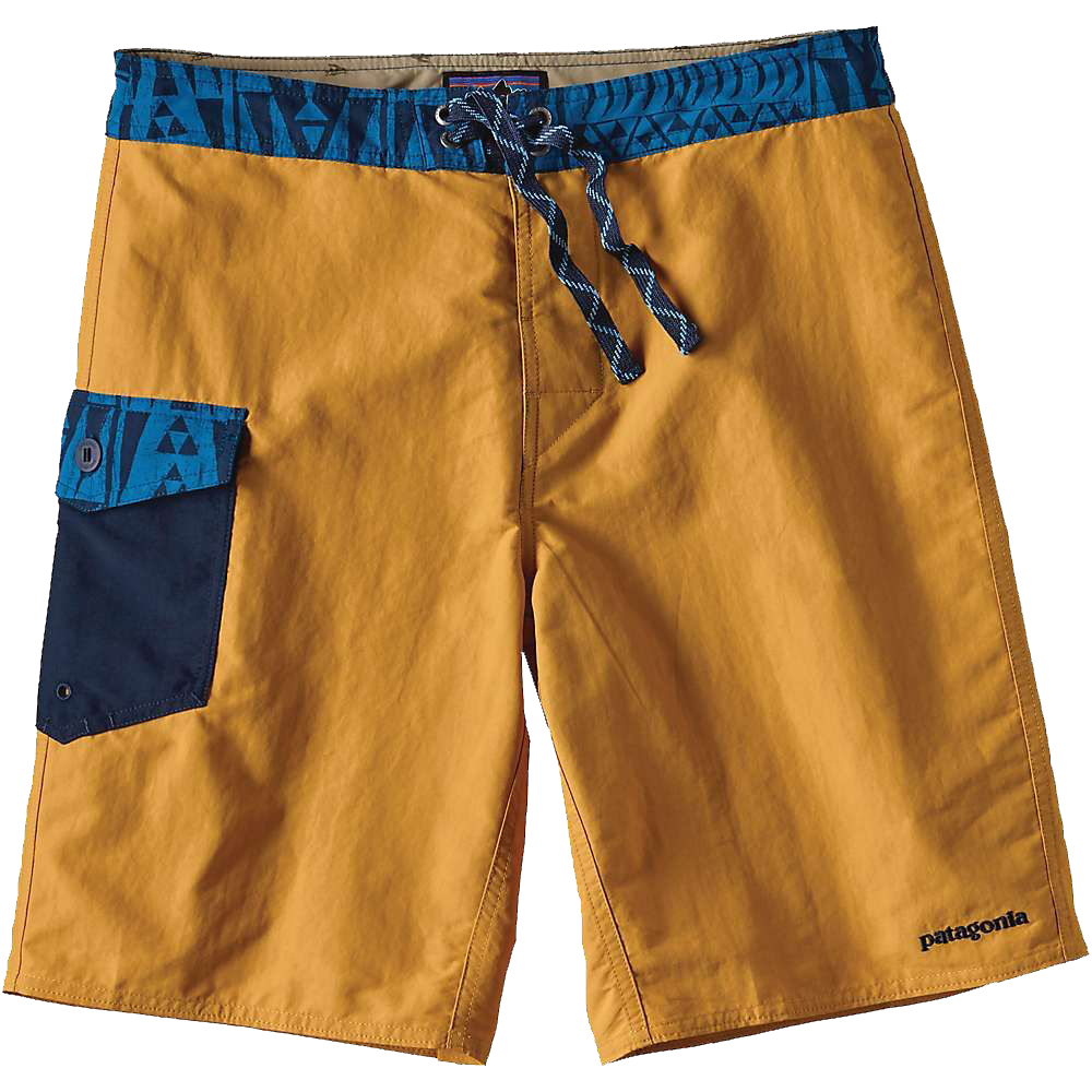 PATAGONIA Men's Patch Pocket Wavefarer Board Shorts-Yurt Yellow