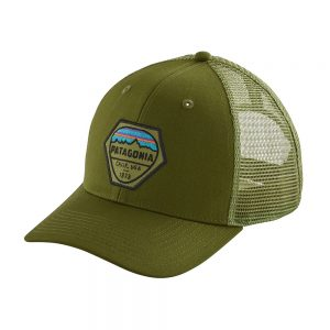 Patagonia Fitz Roy Hex Trucker Hat, Sprouted Green