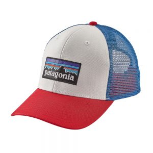 Patagonia P-6 Trucker Hat, White Fire Andes Blue