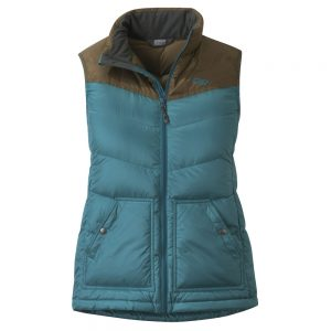 outdoor-research-womens-transcendent-down-vest-washed-peacock-carob-front