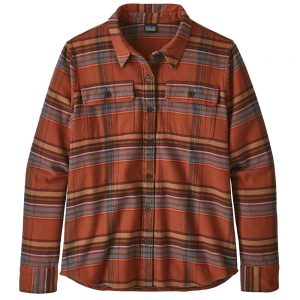 Patagonia Women's Long-Sleeved Fjord Flannel Shirt, Cabin Time Barro Brown