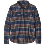 Patagonia Women's Long-Sleeved Fjord Flannel Shirt, Cabin Time Stone Blue