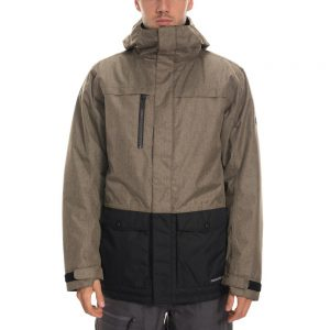 686 Men's Anthem Insulated Jacket, Khaki Melange Colorblock
