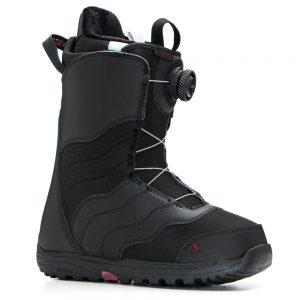Burton Women's Mint Boa Snowboarding Boots, Black