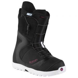 Burton Women's Mint Snowboarding Boots, Black White