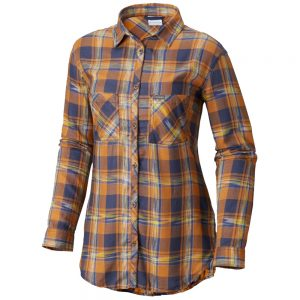 Columbia Sportswear Women's Long-Sleeved Always Adventure Tunic, Canyon Gold Plaid