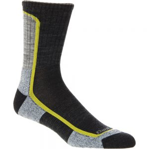 Darn Tough Men's Light Hiker Micro Crew Light Cushion Sock Charcoal Lime Side