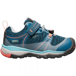 Keen Footwear Little Girls' Terradora Waterproof Low Shoes, Aqua Sea Coral