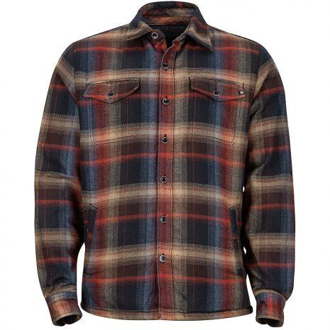 Marmot Men's Ridgefield Flannel Shirt Jacket, Black