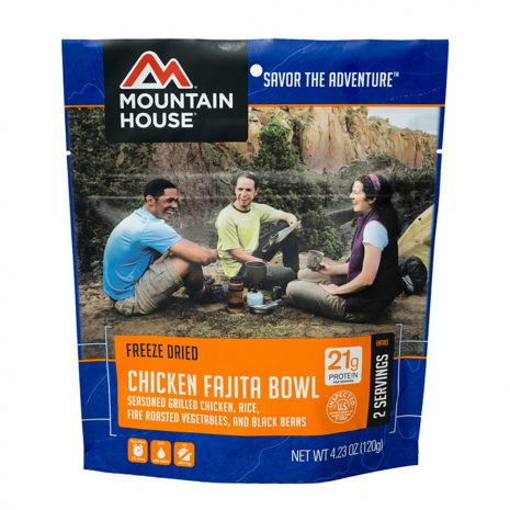 MOUNTAIN HOUSE Chicken Fajita Bowl Dehydrated Meal