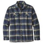 Patagonia Men's Long-Sleeved Fjord Flannel Shirt, Activist Navy Blue