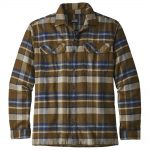 Patagonia Men's Long-Sleeved Fjord Flannel Shirt, Basin Sediment