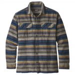Patagonia Men's Long-Sleeved Fjord Flannel Shirt, Folk Dobby Navy Blue