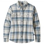Patagonia Women's Long Sleeved Fjord Flannel Shirt, Activist Big Birch White