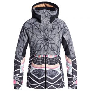 Roxy Women's Frozen Flow Insulated Jacket, True Black Pop Snowstars