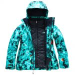 The North Face Women's Garner Triclimate Jacket, Transantarctic Blue Snowfloral