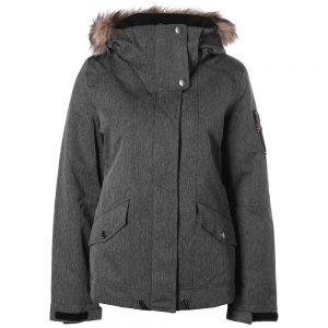 Roxy Women's Grove Insulated Jacket, Herringbone Gray