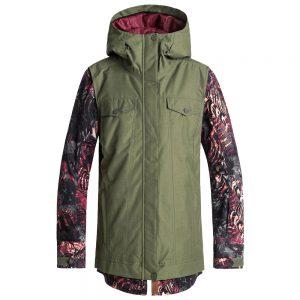 Roxy Women's Ceder Insulated Jacket, Four Leaf Clover Zebratree