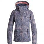 Roxy Women's Jetty Insulated Jacket, Crown Blue Queen Motif